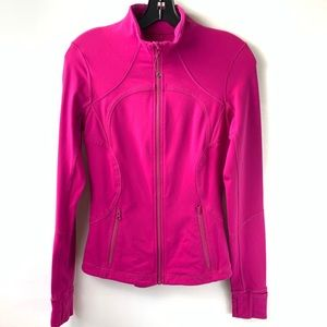 Lululemon Define Pink Full Zip Up Jacket Long 6